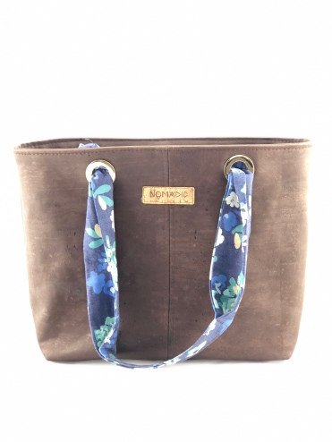 Maggie tote with denim handles